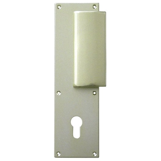 2 poign es de porte d 39 entr e trou de cylindre aluminium mat 195 mm leroy merlin. Black Bedroom Furniture Sets. Home Design Ideas