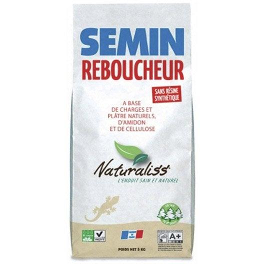 enduit de rebouchage poudre naturaliss semin 5 kg leroy merlin. Black Bedroom Furniture Sets. Home Design Ideas