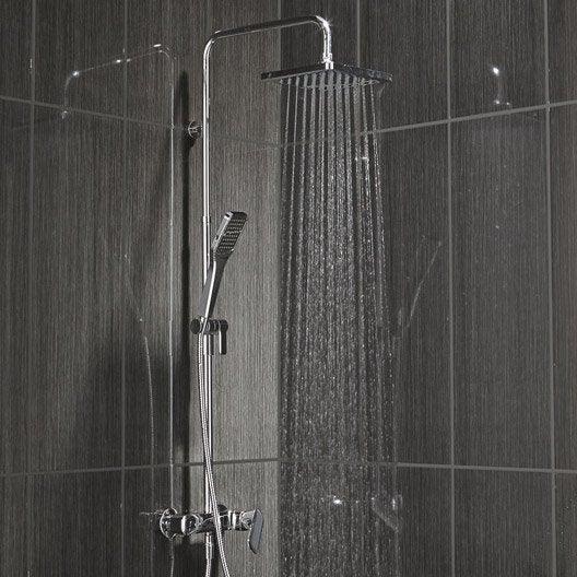 Barre et colonne de douche leroy merlin for Barre salle de bain castorama