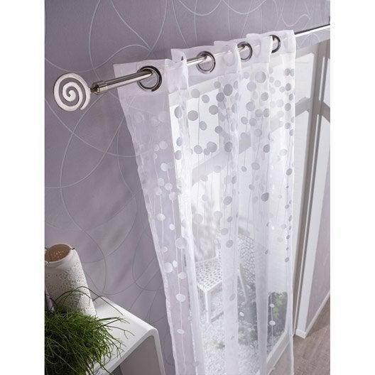 Voilage Bubble, blanc, l.140 x H.280 cm INSPIRE | Leroy Merlin