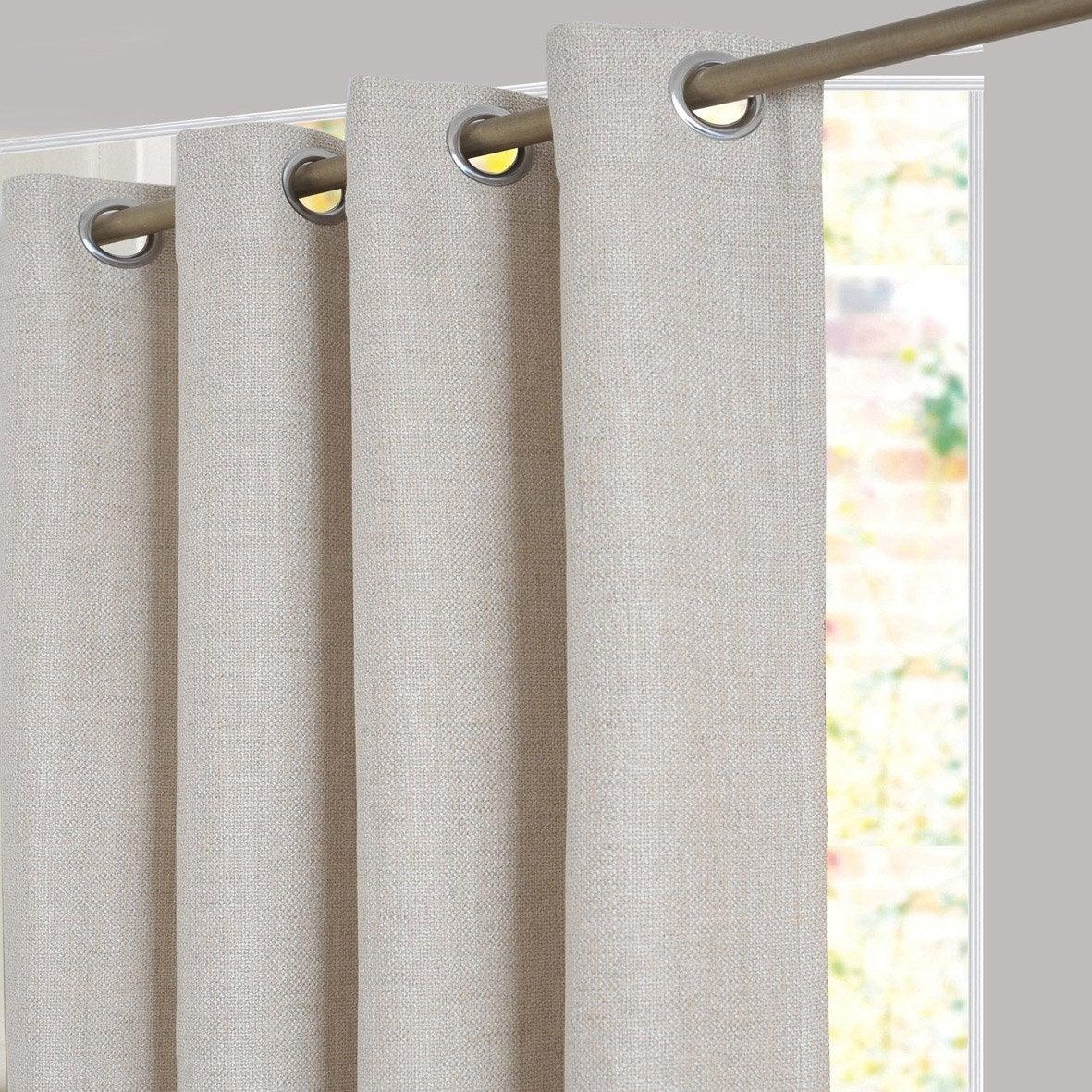 rideau tamisant tricot beige x cm inspire leroy merlin. Black Bedroom Furniture Sets. Home Design Ideas