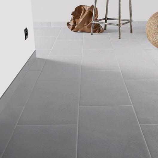 Carrelage sol et mur gris brume effet b ton leeds x l for Carrelage effet beton gris