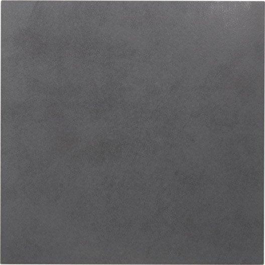 Carrelage sol et mur anthracite effet b ton leeds x l for Carrelage gris anthracite salissant