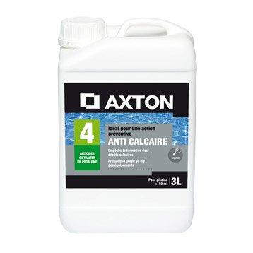 Anticalcaire piscine AXTON, liquide 3 l 3 kg