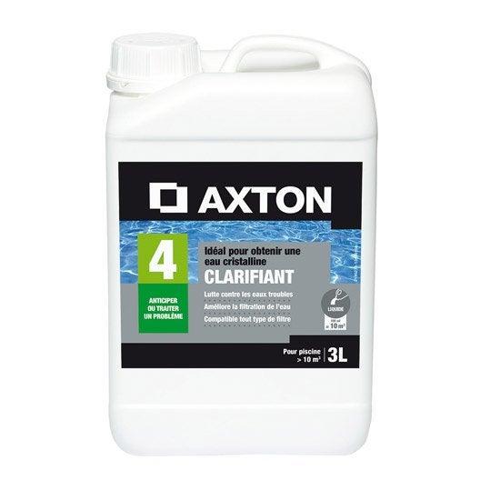 Clarifiant piscine AXTON, liquide 3 l