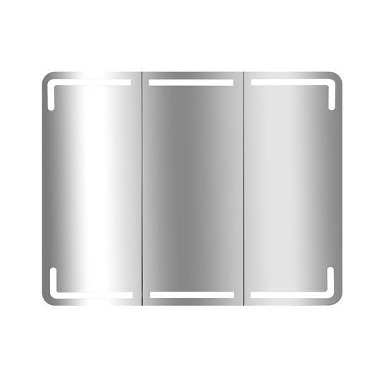 Armoire de toilette lumineuse cm blanc estrella for Armoire de toilette leroy merlin