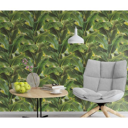 papier peint intiss bananier vert leroy merlin. Black Bedroom Furniture Sets. Home Design Ideas