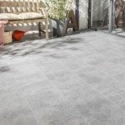 Carrelage sol gris effet béton Bristol l.30 x L.60 cm