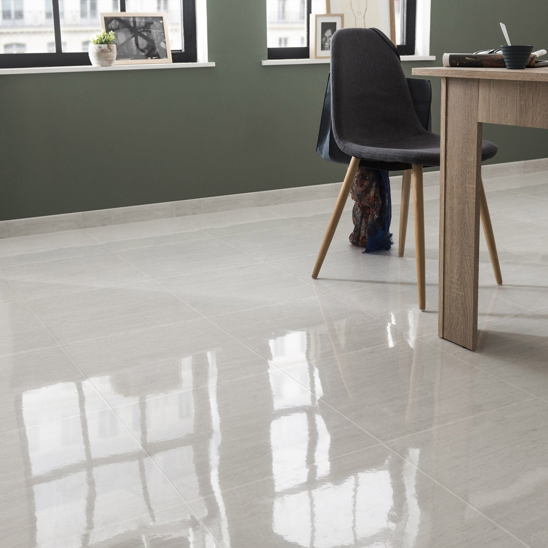 Carrelage sol et mur blanc effet marbre Verone l.45 x L.45 cm ...