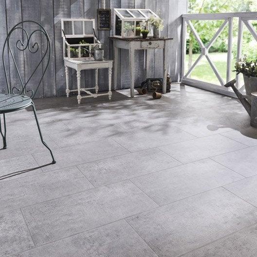 Carrelage sol gris effet b ton alma x cm leroy for Carrelage exterieur gris clair