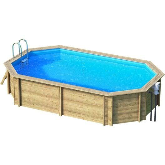 piscine hors sol bois weva proswell by procopi l 6 4 x l 4 x h m leroy merlin. Black Bedroom Furniture Sets. Home Design Ideas