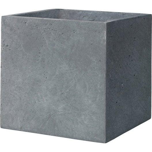 cube fibre deroma x cm gris leroy merlin. Black Bedroom Furniture Sets. Home Design Ideas