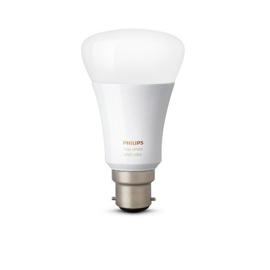 ampoule connect e philips hue b22 10w 800 lumens changement de couleurs leroy merlin. Black Bedroom Furniture Sets. Home Design Ideas