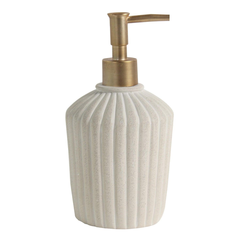 Distributeur de savon pierre Colette, beige