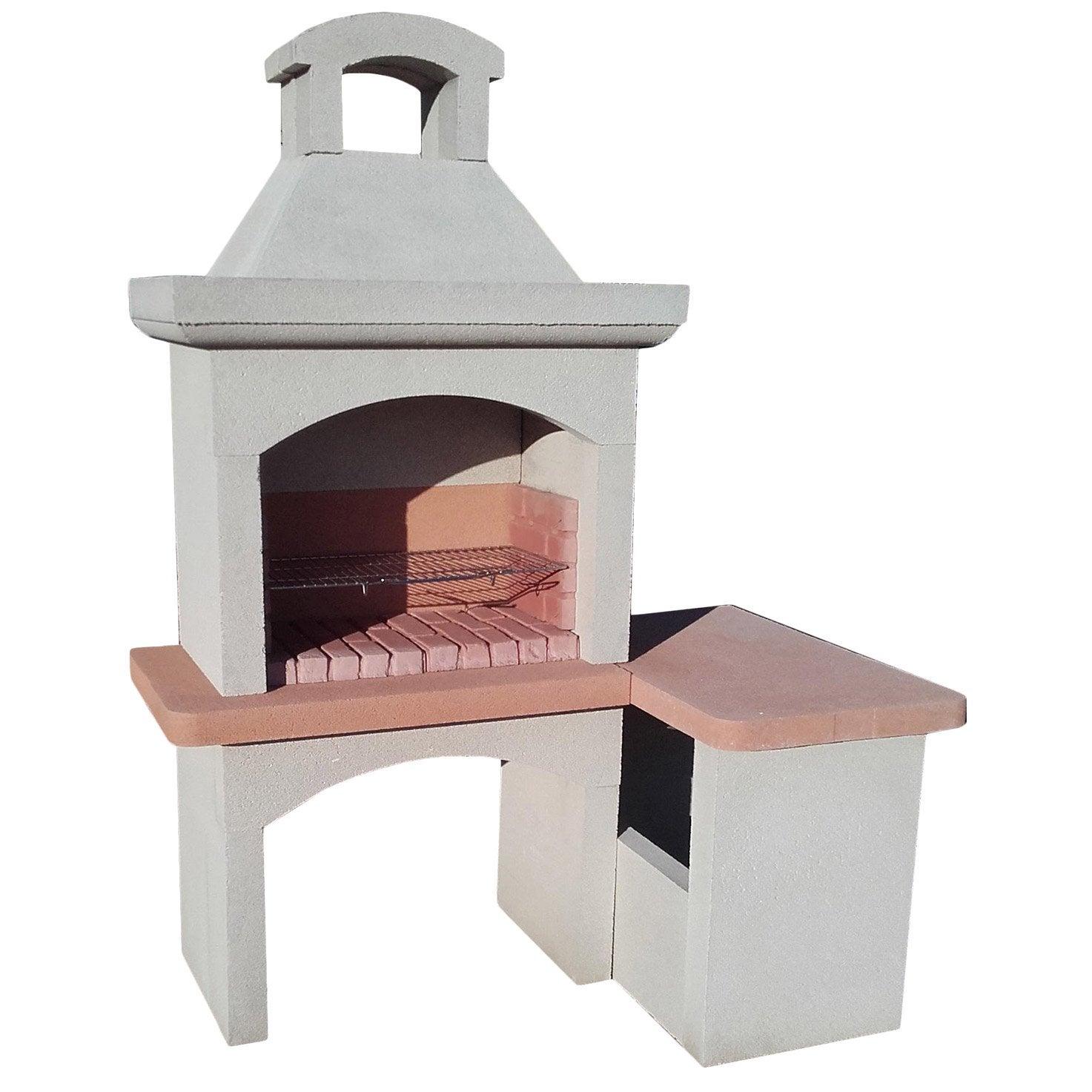 barbecue pierre l54 x l180 x h190 cm
