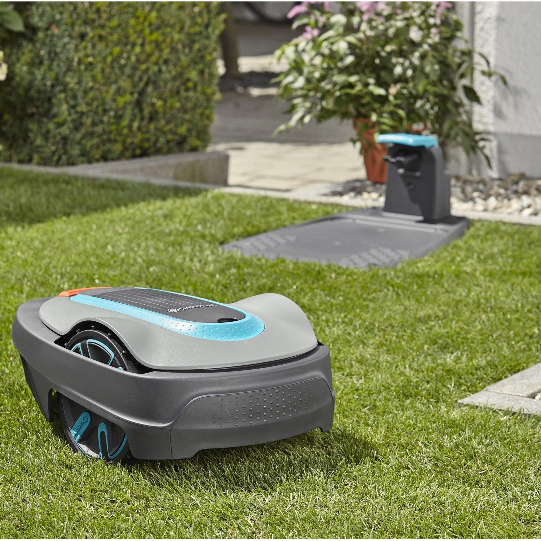 tondeuse robot gardena sileno city 300 300 m leroy merlin. Black Bedroom Furniture Sets. Home Design Ideas