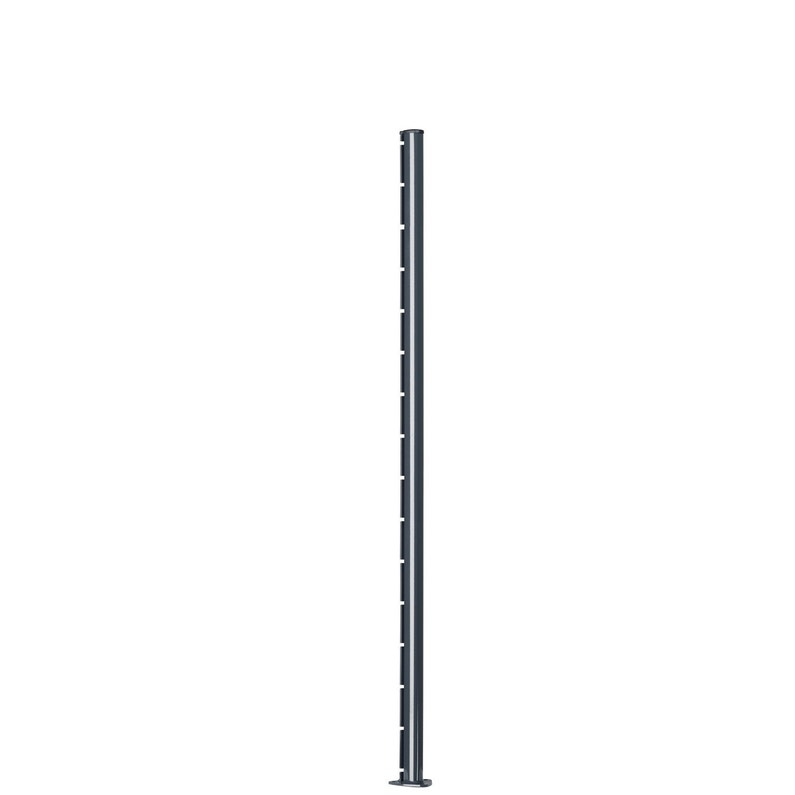Poteau A Encoche Axor Gris Platine Soudée L11 X P11 X H155 Cm
