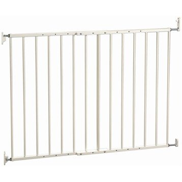 Barrière de sécurité enfant Modulia en métal,  long. min/max 61/109cm, H72.5 cm
