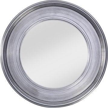 Miroir tisbury rond argent diam tre 94 cm for Miroir 40x160