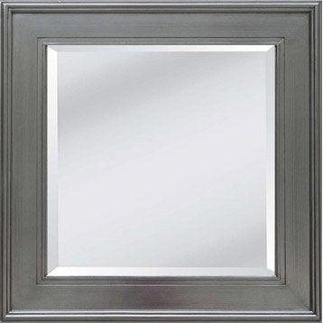 Miroir stickers cadre miroir et affiche leroy merlin for Miroir carre noir