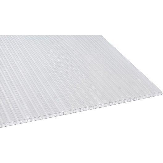 plaque polycarbonate alv olaire 16mm clair 3 x sunclear leroy merlin. Black Bedroom Furniture Sets. Home Design Ideas