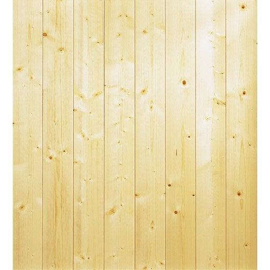 lambris epic a rabot brut x cm ep 9 mm leroy merlin. Black Bedroom Furniture Sets. Home Design Ideas