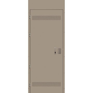 Porte de service acier Stabicave réversible gauche / droite, H.193 x l.98 cm