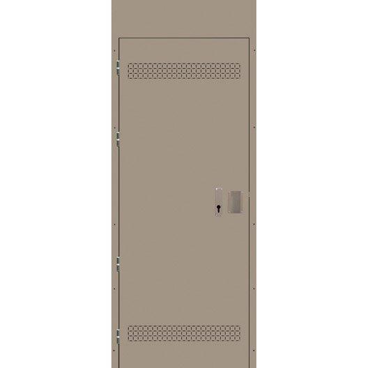 porte de service acier stabicave r versible gauche droite h193 x l88 cm leroy merlin. Black Bedroom Furniture Sets. Home Design Ideas