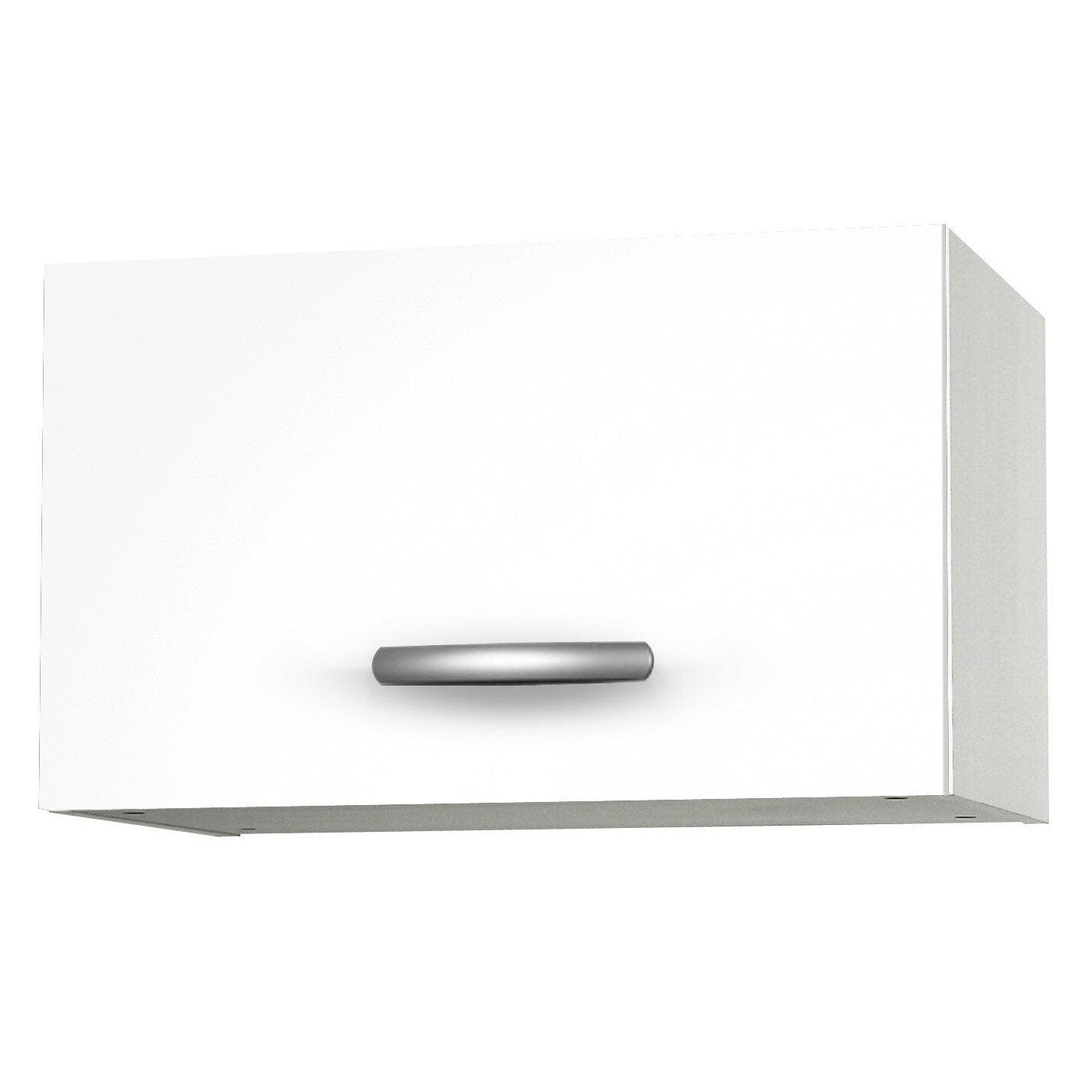 meuble de cuisine haut 1 porte, blanc, h35.2x l60x p35.2cm | leroy