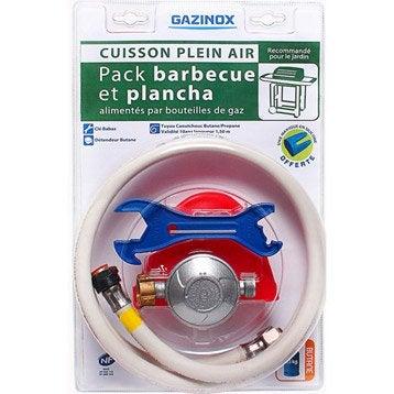 Pack cuisson barbecue: tuyau, détendeur, clé et gant pour gaz butane, BUTAGAZ