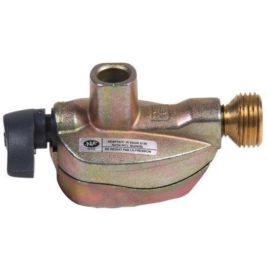 Robinet adaptateur gaz butane propane pour elfi et for Adaptateur gaz de ville
