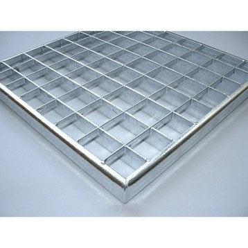 Grille caillebotis acier galvanisé l.32 x L.32 cm MEA