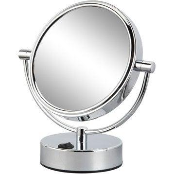 Miroir de salle de bains accessoires et miroir de salle - Miroir salle de bain grossissant lumineux ...