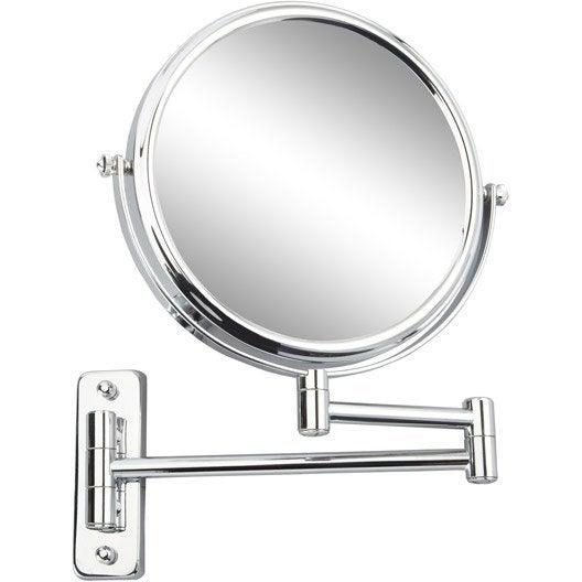 miroir grossissant miroir de salle de bains leroy merlin. Black Bedroom Furniture Sets. Home Design Ideas