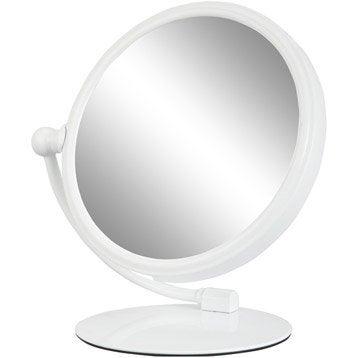 Miroir grossissant miroir de salle de bains leroy merlin for Miroir grossissant x20