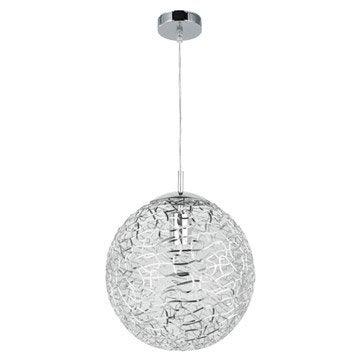 Suspension Moderne Deva métal chromé 1 x 60 W INSPIRE