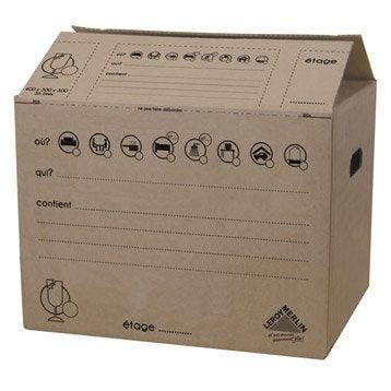 Carton de déménagement, 40 x 30 x 30 cm, 36 L