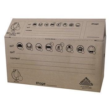 Carton de déménagement, 80 x 40 x 40 cm, 128 L