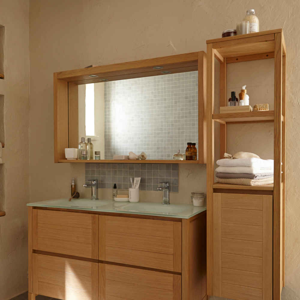 Bien choisir sa vasque ou son lavabo leroy merlin for Meuble double vasque 100 cm
