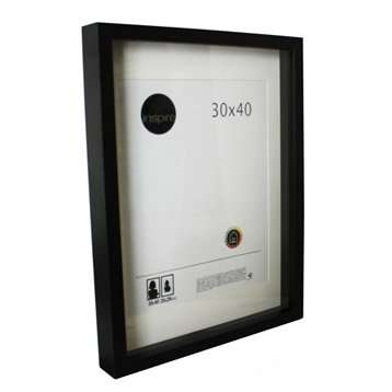Cadre vitrine Lario, 30 x 40 cm, noir-noir n°0