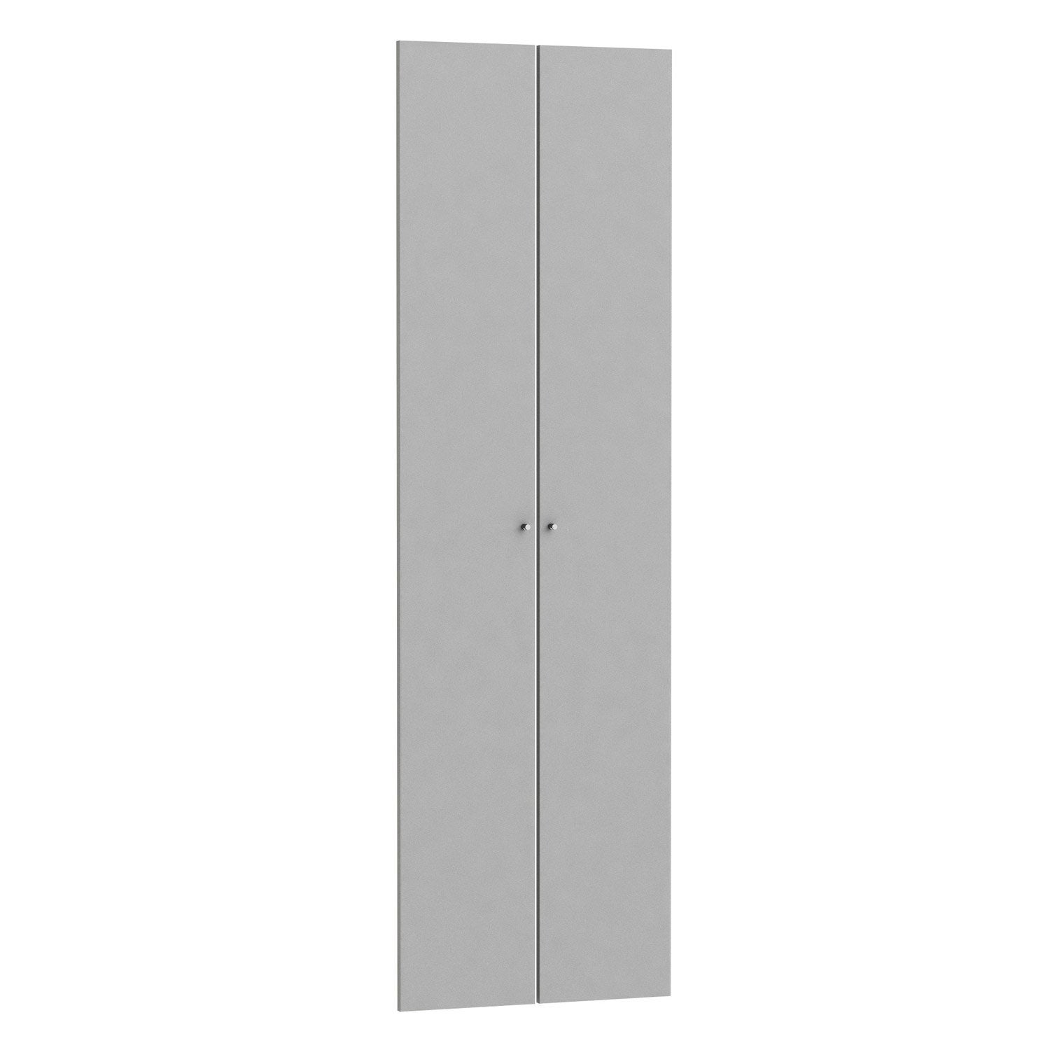 Lot De 2 Portes Battantes SPACEO Home 200 X 30 X 1.6 Cm, Anthracite