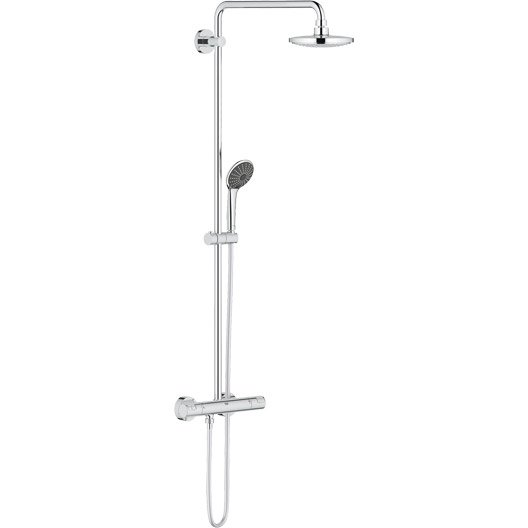 Colonne de douche avec robinetterie grohe vitalio system - Colonne douche leroy merlin ...