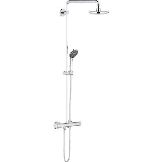 colonne de douche avec robinetterie grohe vitalio system leroy merlin. Black Bedroom Furniture Sets. Home Design Ideas