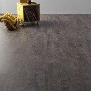 Dalle PVC Flash clic deep grey, 60 x 30.7 cm