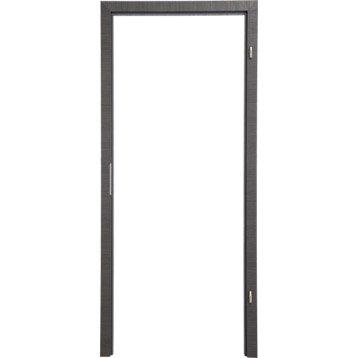 Kit ébrasement pour porte londres 93 cm, poussant droit décor chêne grisé