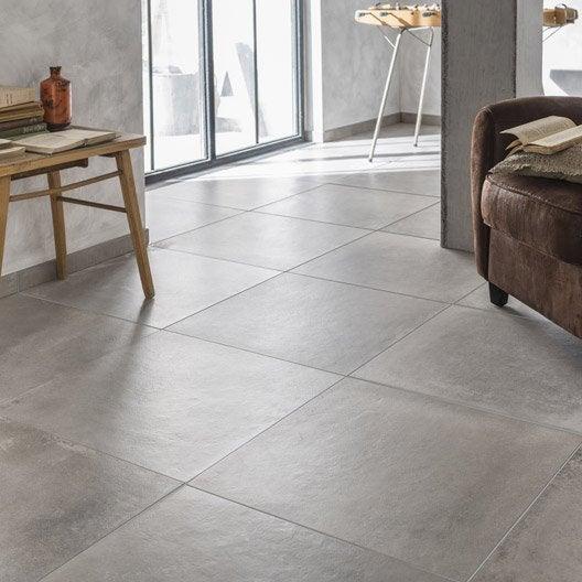 Carrelage sol et mur taupe effet b ton harlem x - Carrelage beton cire leroy merlin ...
