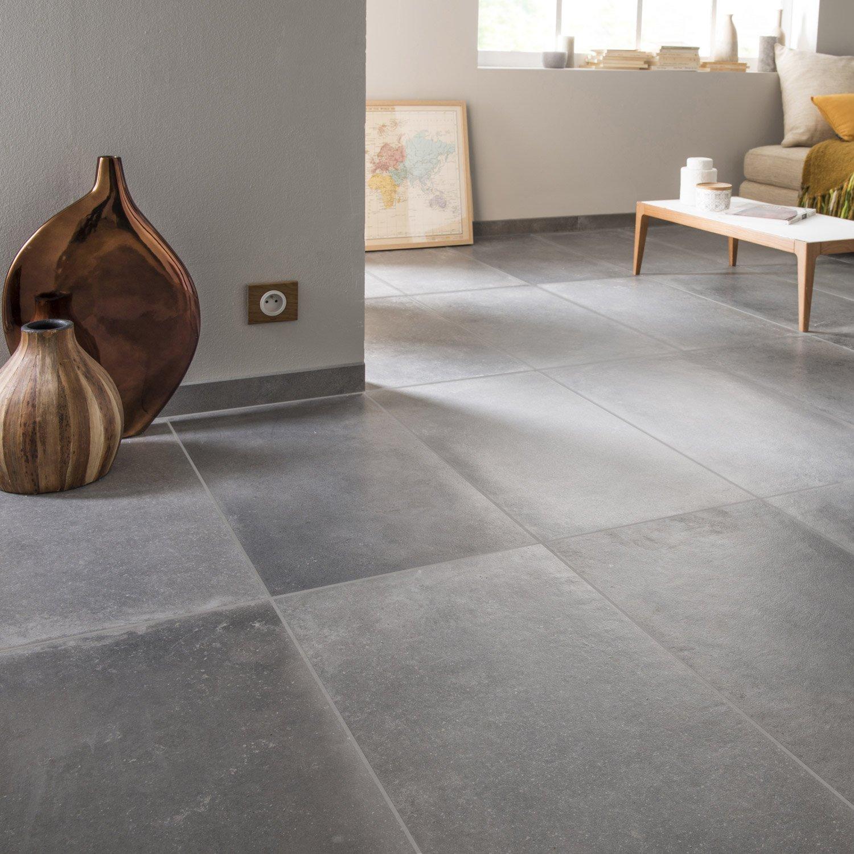 Carrelage Sol Et Mur Anthracite Effet Béton Harlem L X L Cm - Carrelage effet beton
