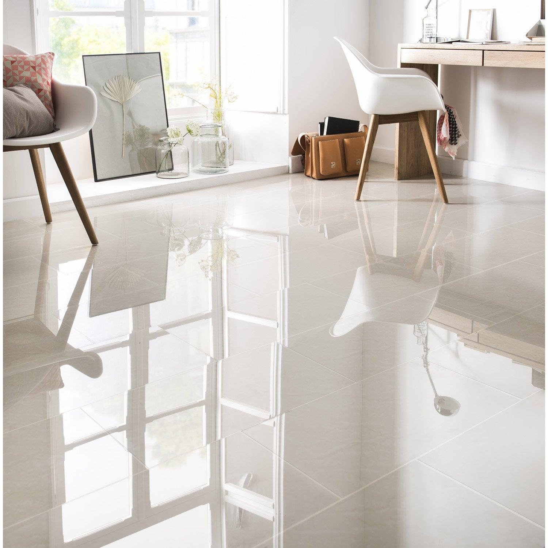 Carrelage sol et mur beige effet marbre Maderas l.30 x L.60 cm ...