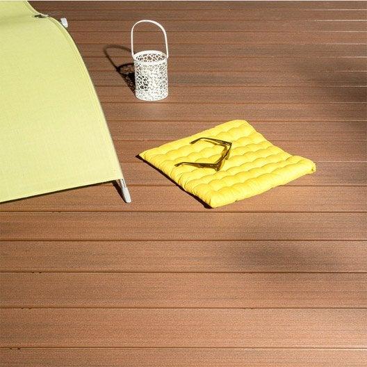 Planche composite Premium, brun chocolat, L.300 x l.15 cm x Ep.21 mm
