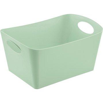 Boîte de rangement nomade en plastique vert d'eau, Boxxx